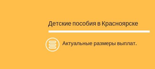 Детские пособия в Красноярске