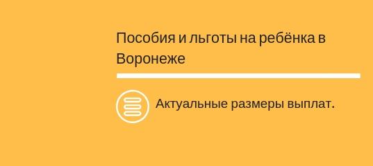 Детские пособия в Воронеже