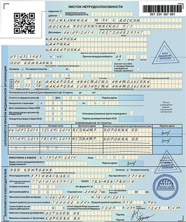 Как правильно расчитать больничный лист по временной нетрудоспособности Анализ крови Ясенево